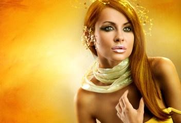 Złota stylizacja, portret