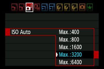 Ustawianie opcji ISO Auto w aparacie Canon