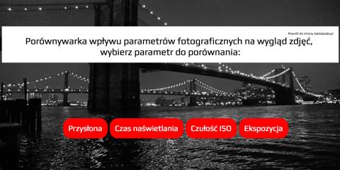 Porównywarka podstawowych parametrów fotograficznych