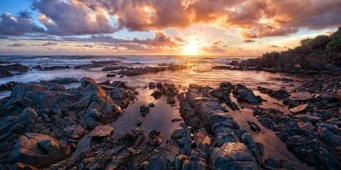 Fotografia krajobrazu nad morzem