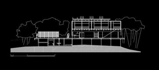 Contemporary Architecture of Iporanga House, Contemporary Architecture, Iporanga House, section,