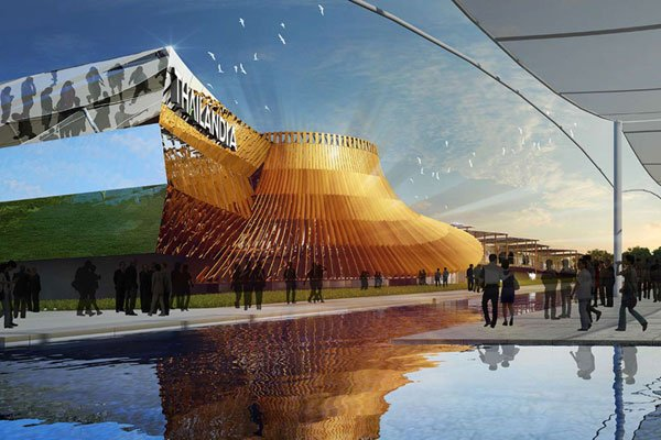 temporary architecture in milan expo, Winning Design of Thai Pavilion for 2015 Milan Expo,milan expo, expo 2015, architecture, winning desing, Office of Bangkok Architects, oba