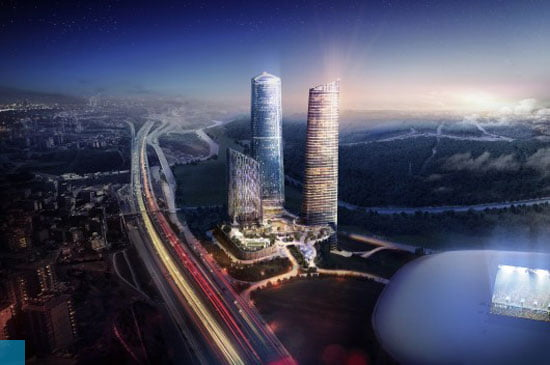 tallest under construction buildings in europe, Skyland-Office-Skyland-Residential-Towers-Istanbul-Broadway-Malyan-284m-Completion-date-2016, Skyland Office and Residential Towers,