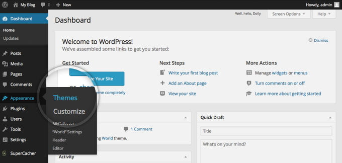 install wordpress theme,