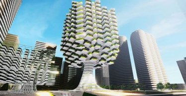 vertical urban skyfarm,