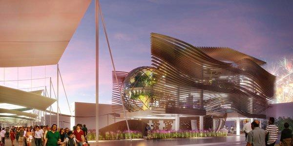 Azerbaijan pavilion, temporary architecture in milan expo,