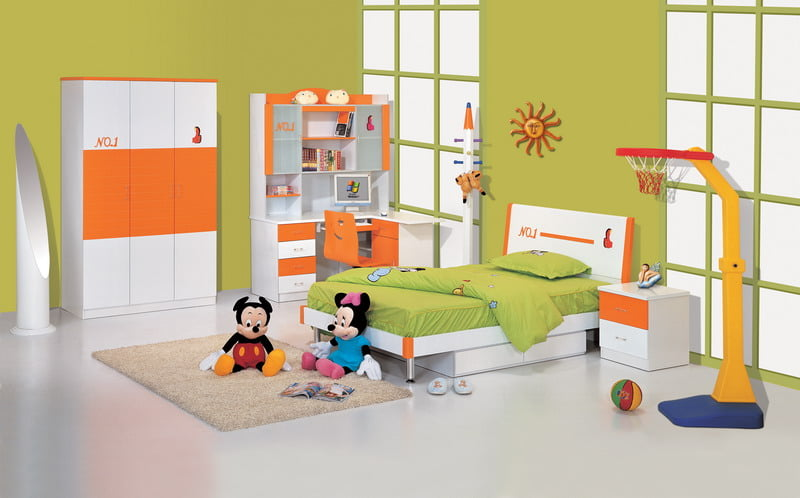 multifunctional bedroom ideas, monochromatic color scheme,
