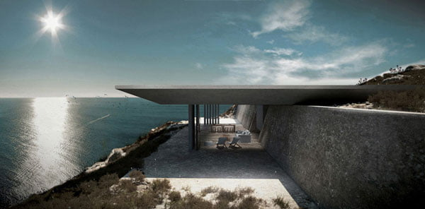 Architectural House Design, Blends Mirage Residence, with Aegean sea