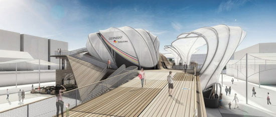 temporary architecture in milan expo, Architecture for Field of Ideas German Pavilion Milan Expo 2015