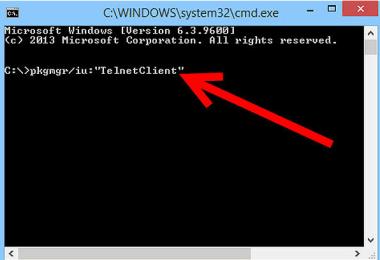 install telnet client windows
