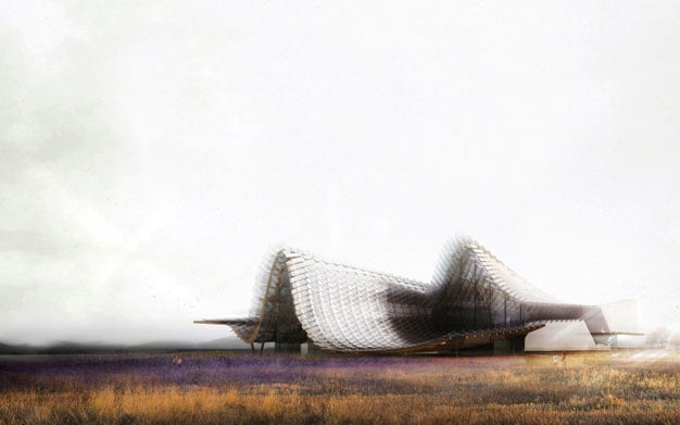 temporary architecture in milan expo, china pavilion milan expo,