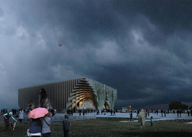 temporary architecture in milan expo, france pavilion milan expo,