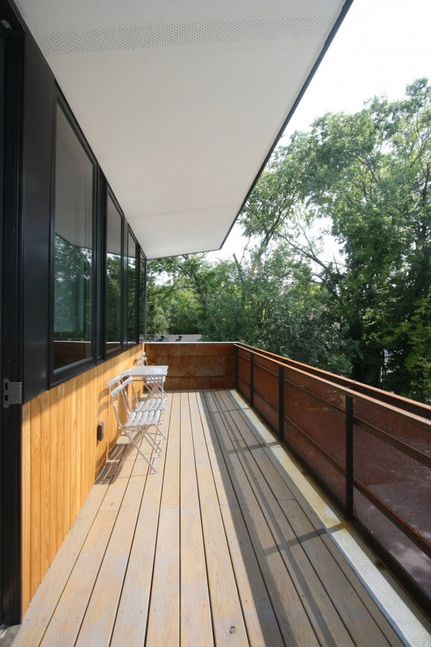 landscaped courtyards,
