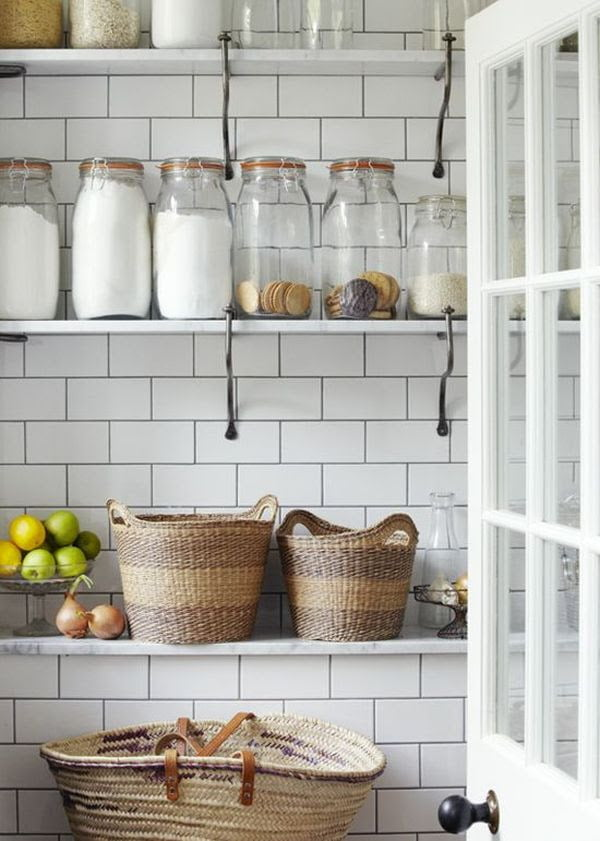 Rustic and industrial meet in this simple white on white design