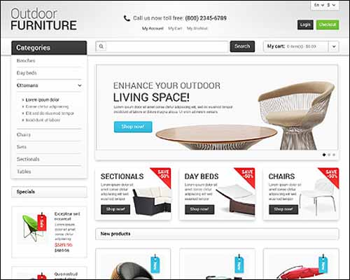 eCommerce website themes,