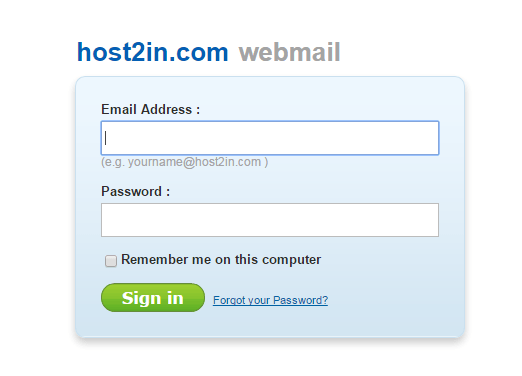 host2in mail server