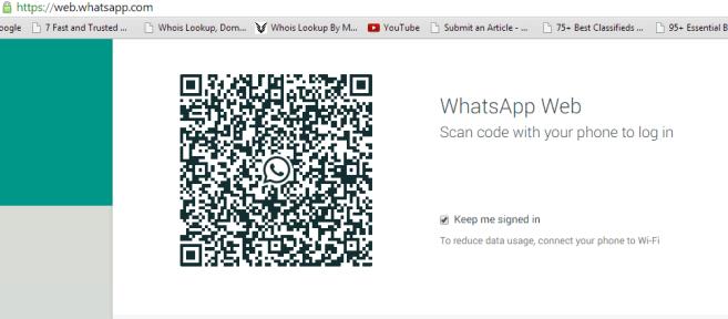 web whatsapp bar