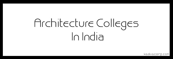 architecture colleges In karnataka, Best Architecture Colleges In India,
