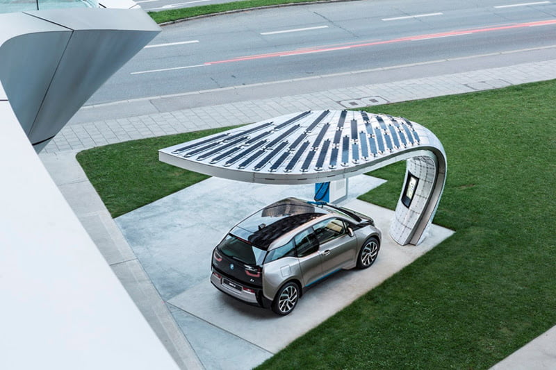 EIGHT installs solar powered fast-charging station at BMW welt 4