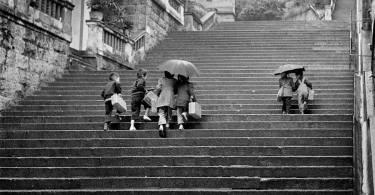 white staircase design,