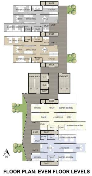 EVEN FLOOR LEVELS plan of Shipping Container Homes Skyscraper For Dharavi Slum