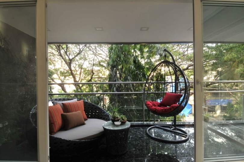 Balcony with Ample Seating Space