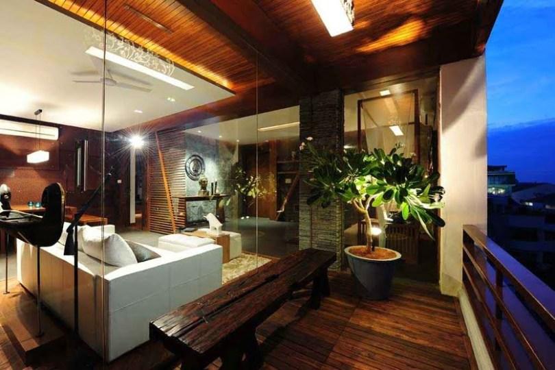 Balcony with Wooden Flooring