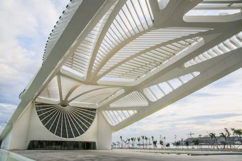 View of the bay Of New Museum of Tomorrow By Santiago Calatrava