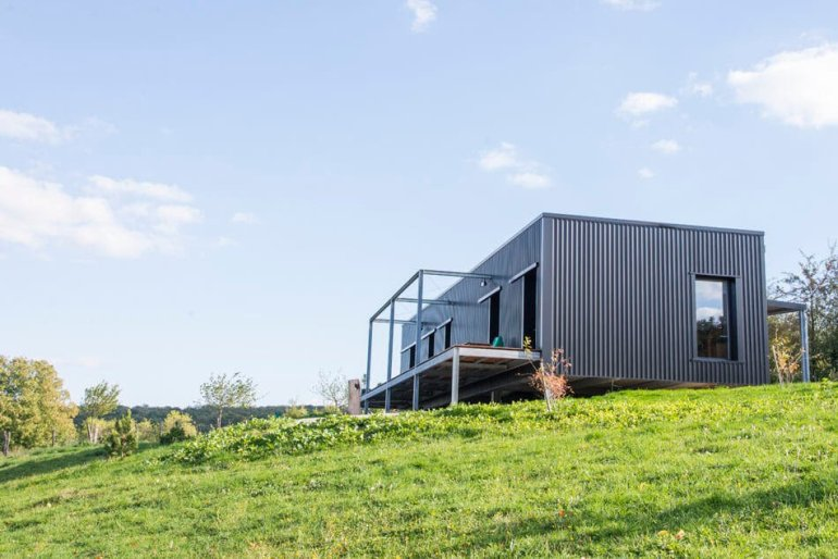 artist house out of shipping container in france 15