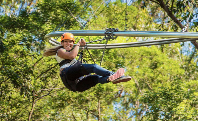 Ecozip Rollercoaster Zip Line by Frederic Galimard