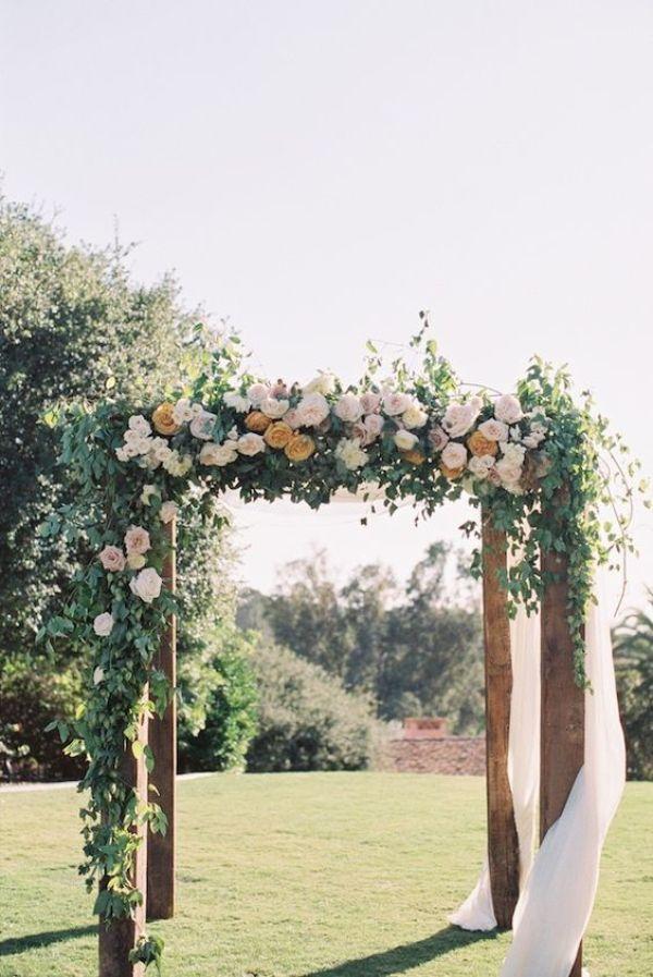 Floral wedding pergola design