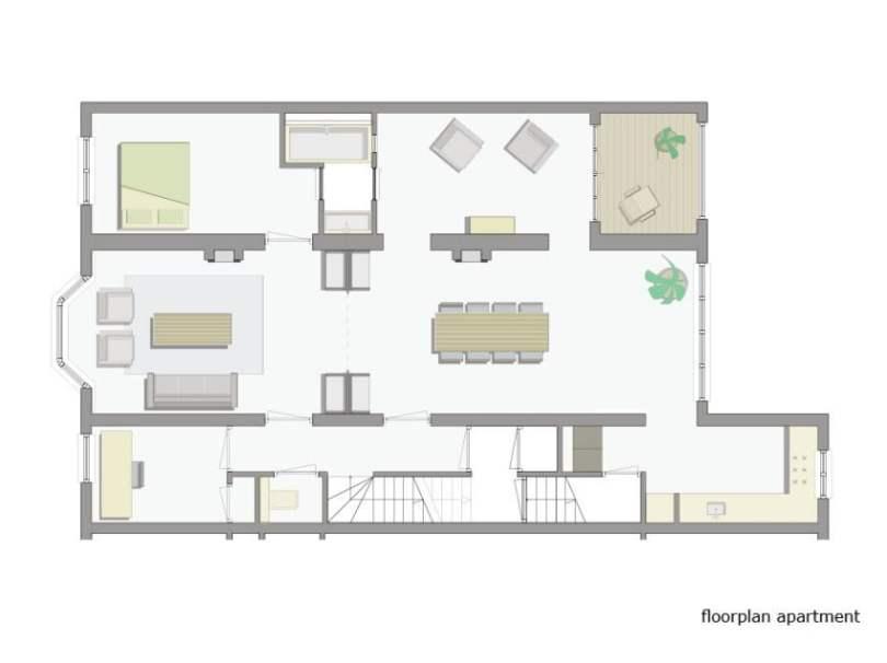 luxury penthouse plan