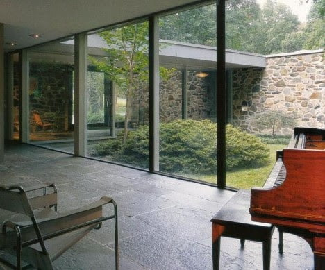 mid century modern furniture of Hooper House II by Marcel Breuer