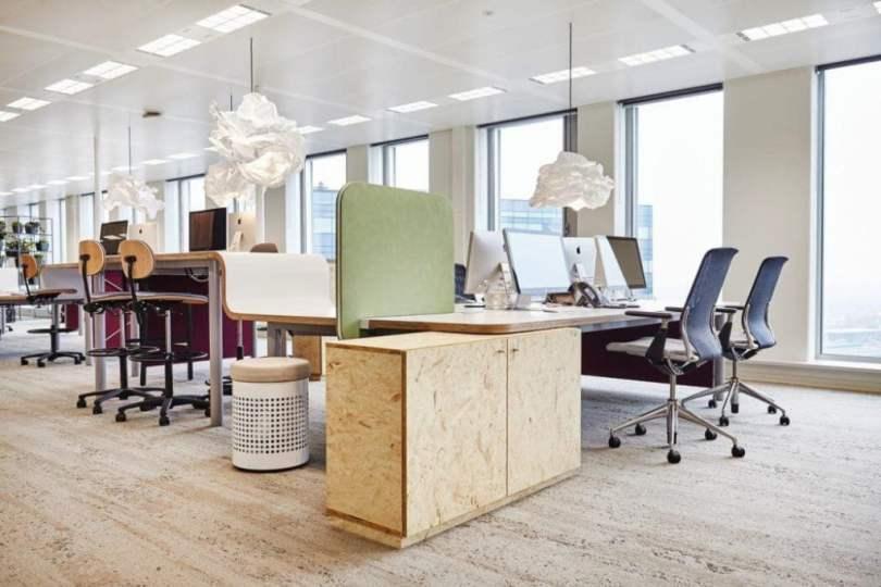 flexible furniture concept in modern work space interior ideas