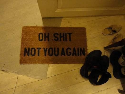 funny-doormats-oh shit not you again