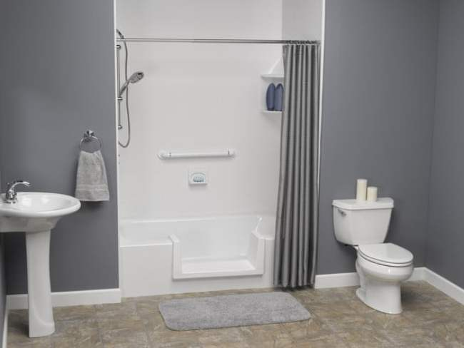 Step-through Bathtub Insert shower cubical