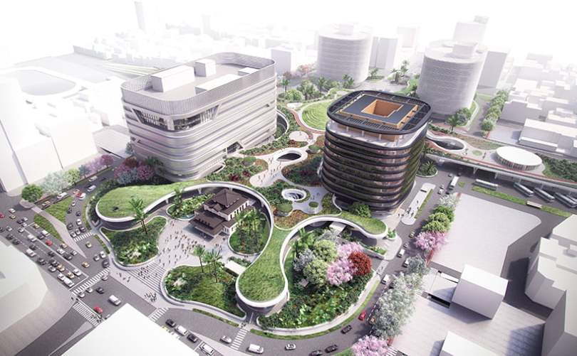 sustainable development of mecanoo-kaohsiung-station-taiwan-railway-project