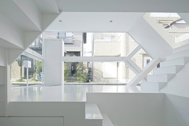 Zig Zag Geometric Shape House by Yuusuke Karasawa