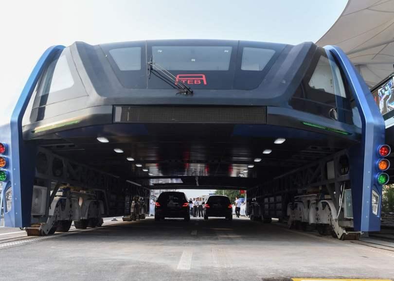 transit elevated bus,