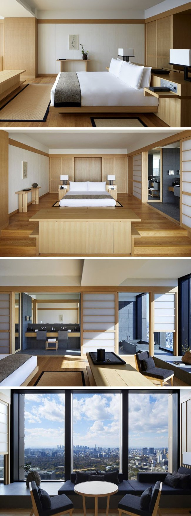 japanese interior of bedroom decor