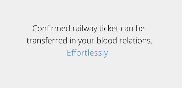 transfer confirmed rail ticket,