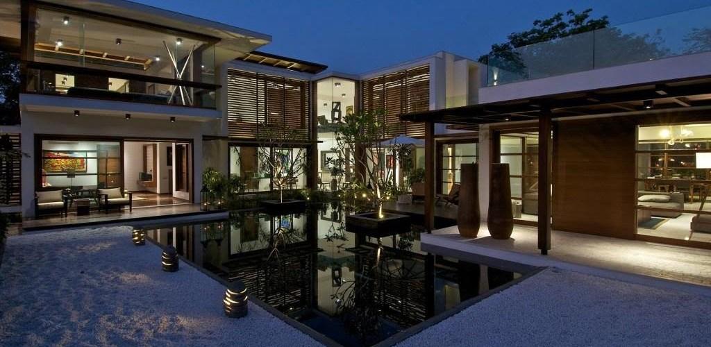 modern courtyard house,