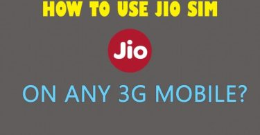 jio sim in 3g phone,