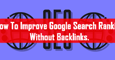 Improvement In rankings without backlink