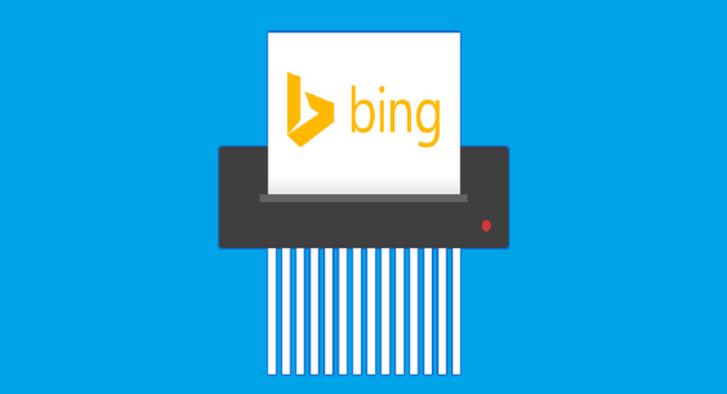 delete bing search history,