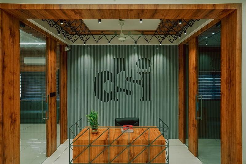 Modern office Interior, Rajkot, Indian architects, Darshan Steel, Interior design ideas,