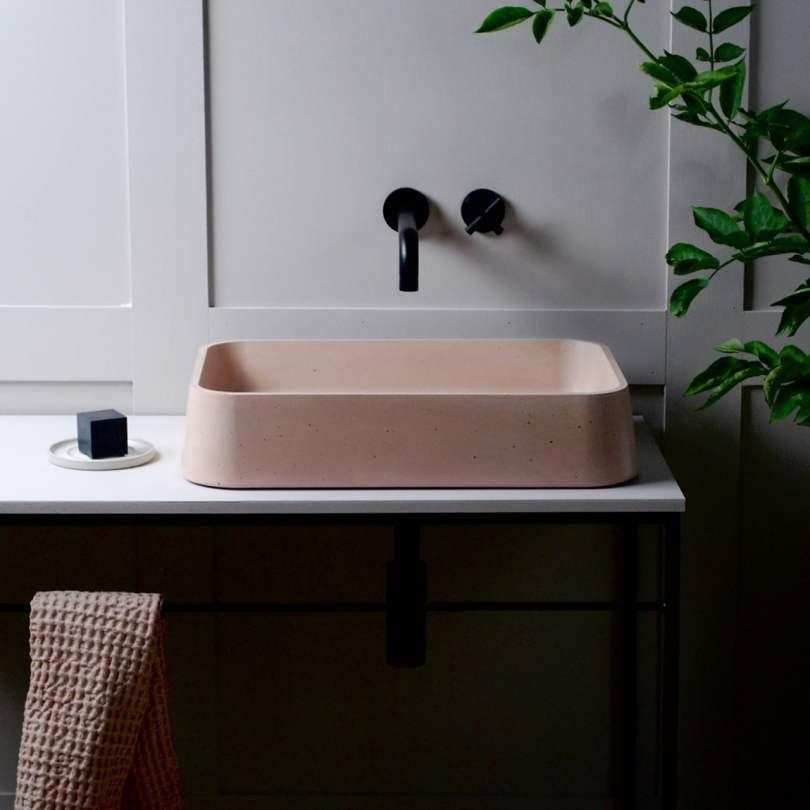 concrete basins, concrete sink,