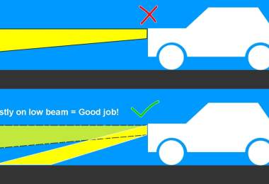 High beam vs low beam,
