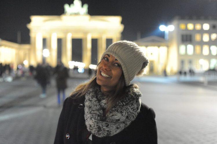 Portão de Berlin a noite