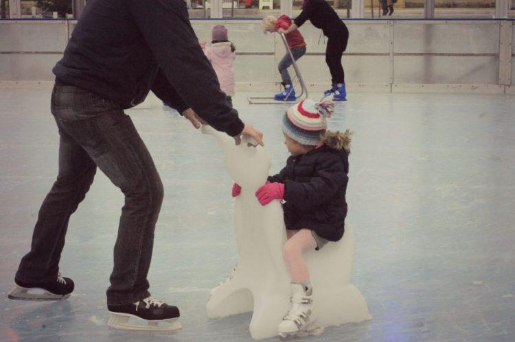 Pista de patinação de gelo